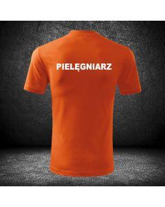 Chabrowa koszulka t-shirt PIELĘGNIARZ druk