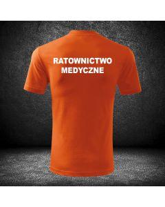 Chabrowa koszulka t-shirt ratownictwo medyczne druk