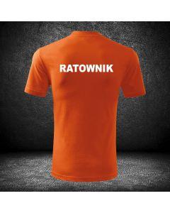 Chabrowa koszulka t-shirt RATOWNIK druk