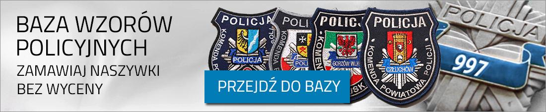 BAZA WZORÓW POLICYJNYCH NASZYWKI HAFTOWANE