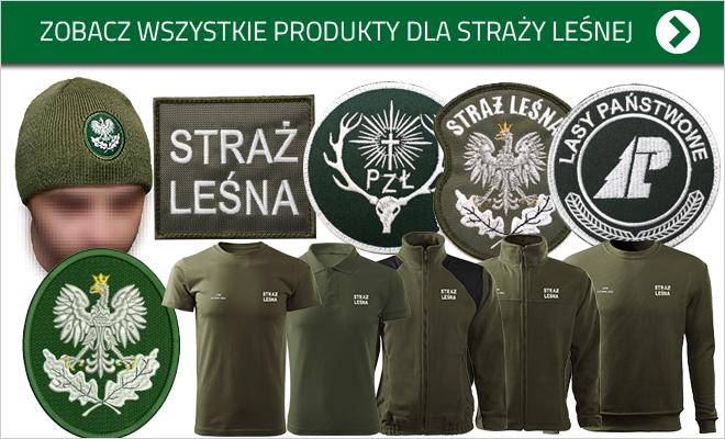odzież i naszywki dla straży leśnej, straży łowieckiej