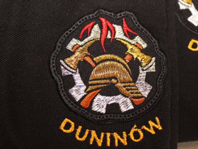 Koszulki strażackie POLO i naszywki strażackie dla WSP Duninów