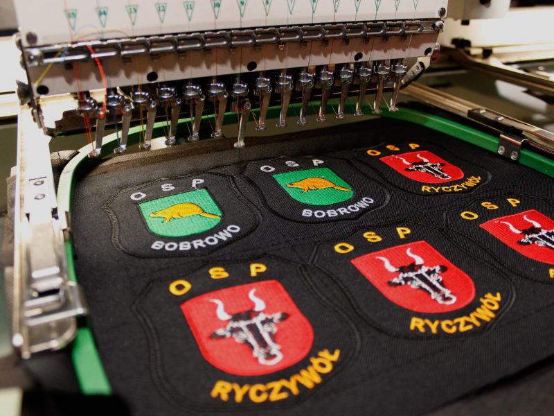 Produkcja naszywek strażackich dla jednostek OSP Bobrowo i OSP Ryczywół.