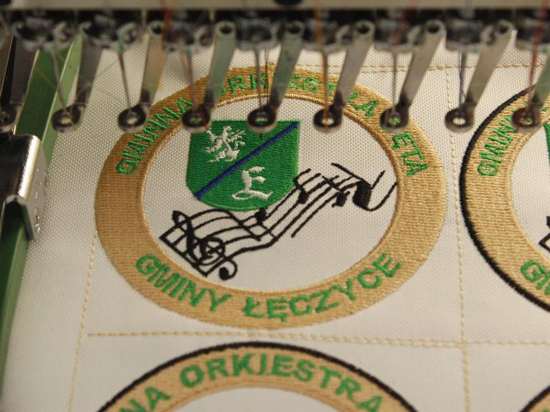 Produkcja naszywek dla Gminnej Orkiestry Dętej Łęczyce