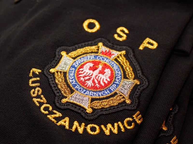 Strażackie koszulki polo dla OSP Łuszczanowice
