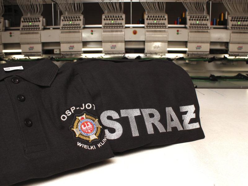 Strażackie koszulki polo dla OSP Wielki Klincz