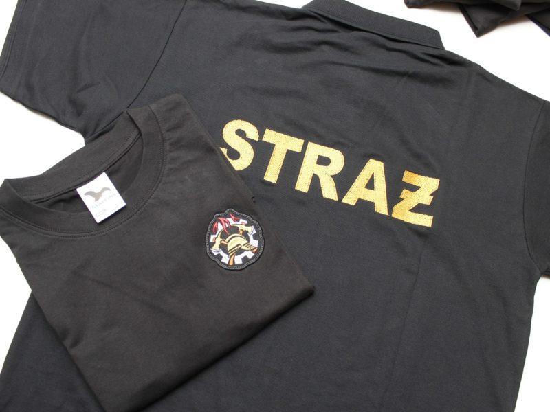 Ochotnicza Straż Pożarna w Parchowie, Wojskowa Straż Pożarna Zegrze. koszulki gotowe do wysyłki.