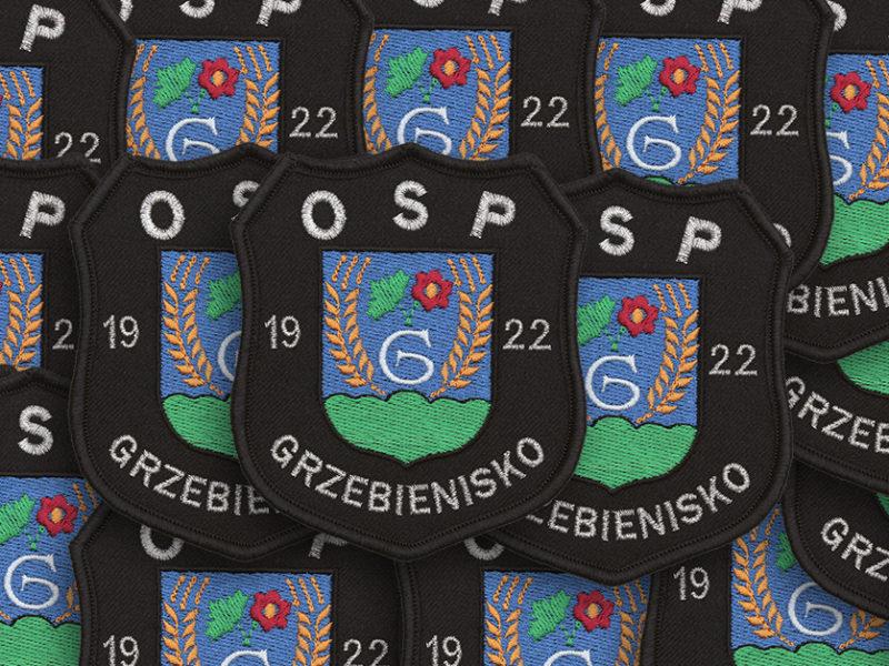 Indywidualne naszywki dla OSP Grzebienisko