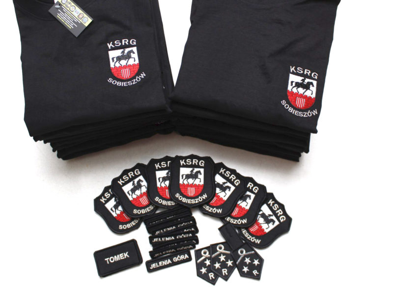 Koszulki i naszywki dla OSP KSRG Sobieszów