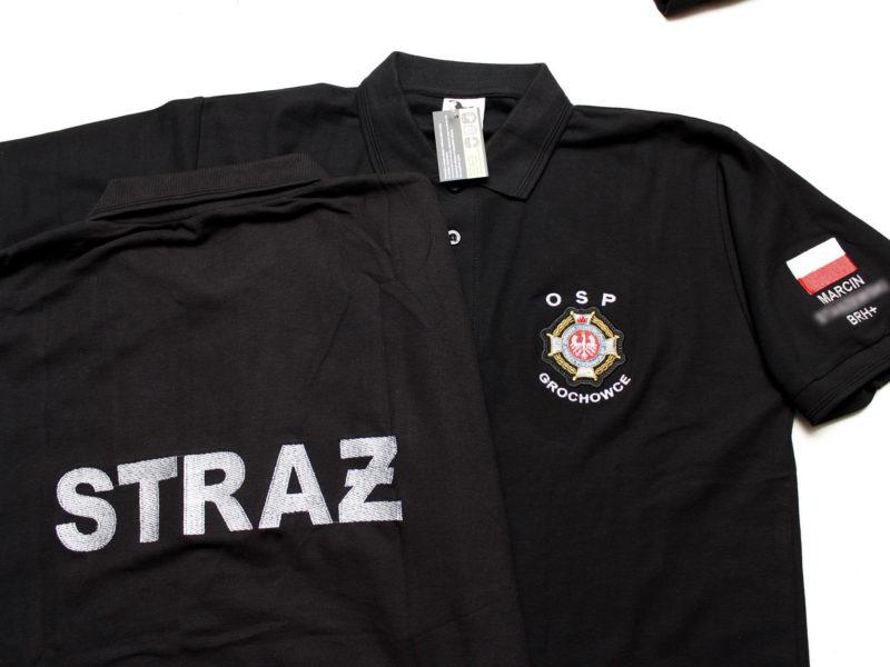Koszulki straż POLO zamów na haftprojekt.pl