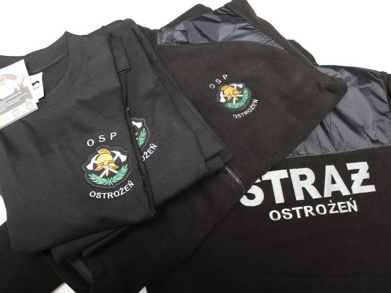 Koszulki T-SHIRT i polary luksusowe dla jednostki OSP Ostrożeń.