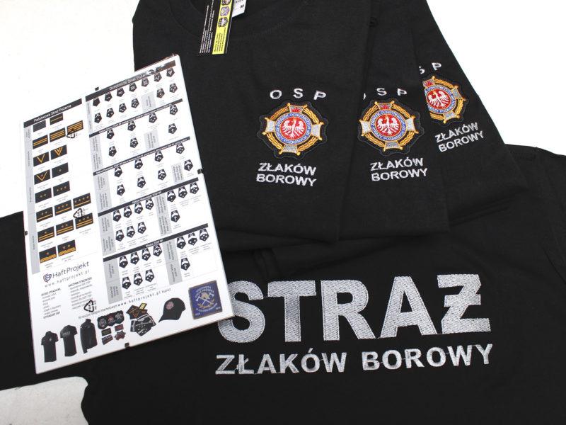 T-shirty strażackie dla OSP Złaków Borowy