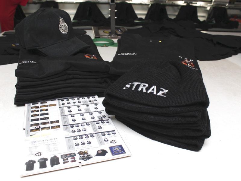 koszulki strażackie, czapki z daszkiem i zimowe dla OSP Sinołęka