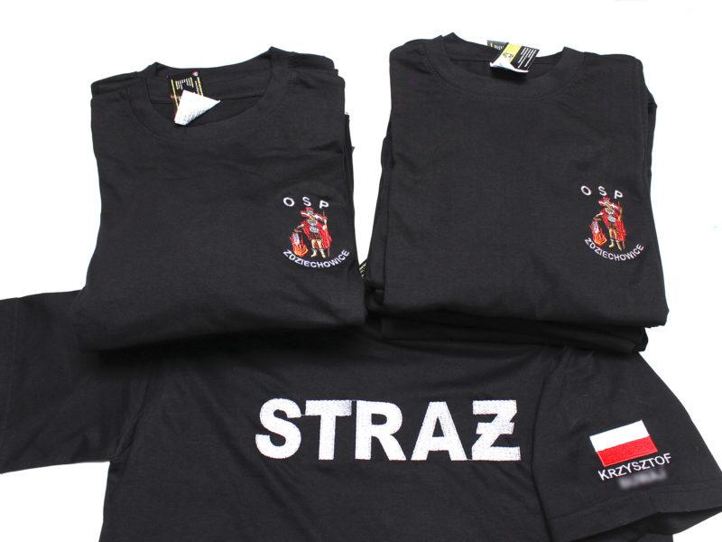 Koszulki ze św. Florianem dla OSP Zdziechowice.