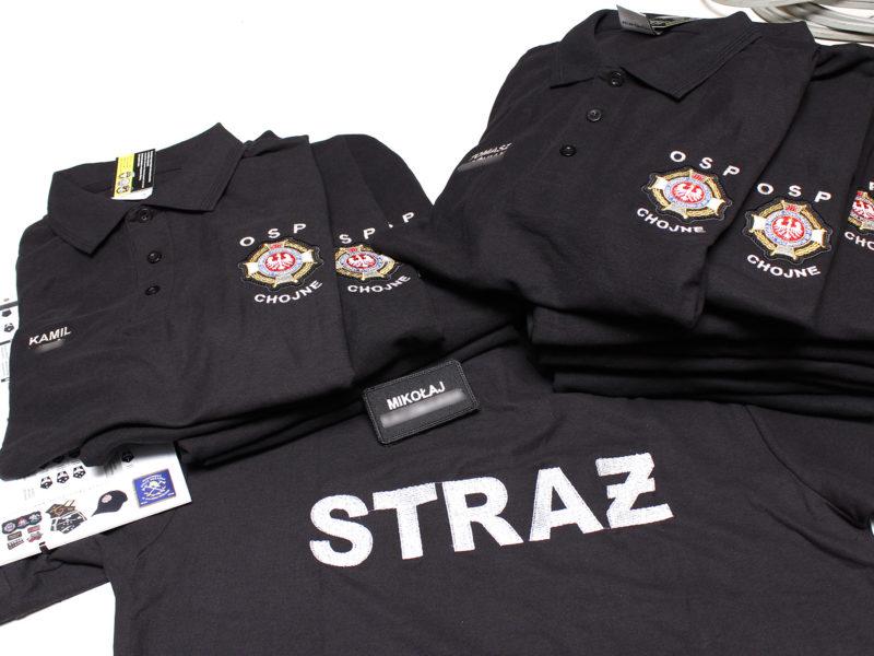Haftowane koszulki strażackie dla OSP Chojne