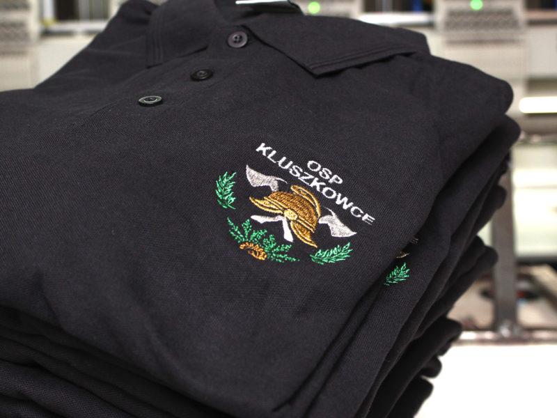 Piękne strażackie logo wyhaftowane dla OSP Kluszkowce