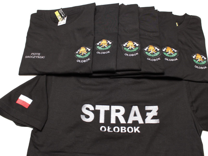 Koszulki strażackie dla OSP Ołobok