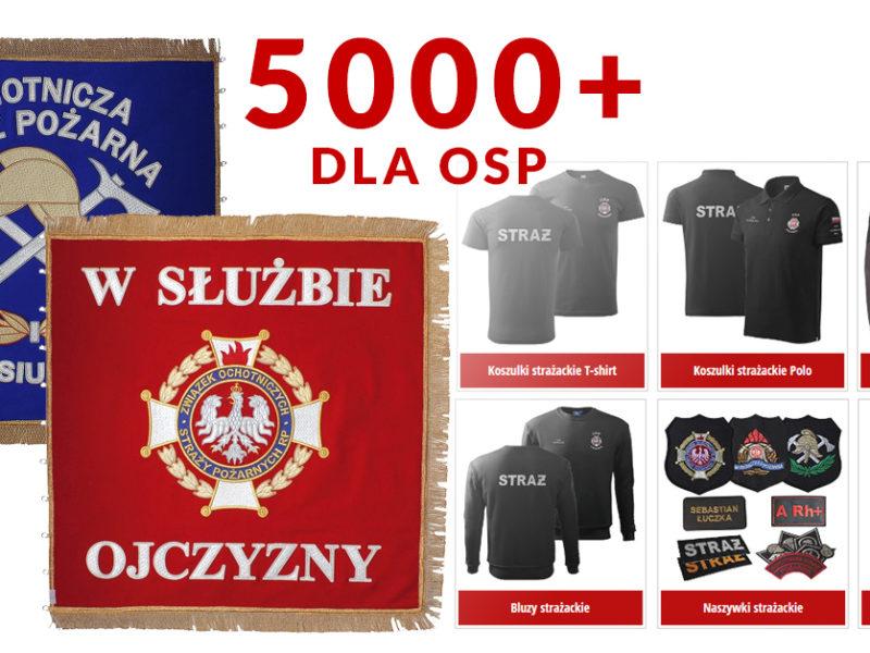 Dotacja dla Ochotniczych Straży Pożarnych 5000+ sztandar, zakup odzieży dla OSP