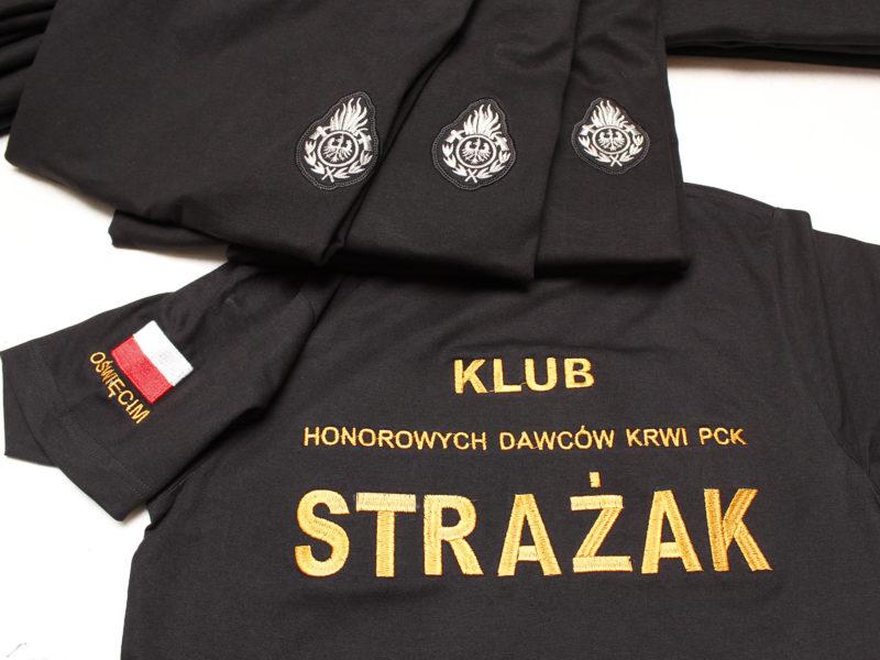 Koszulki strażackie dla Klubu Honorowych Dawców Krwi PCK