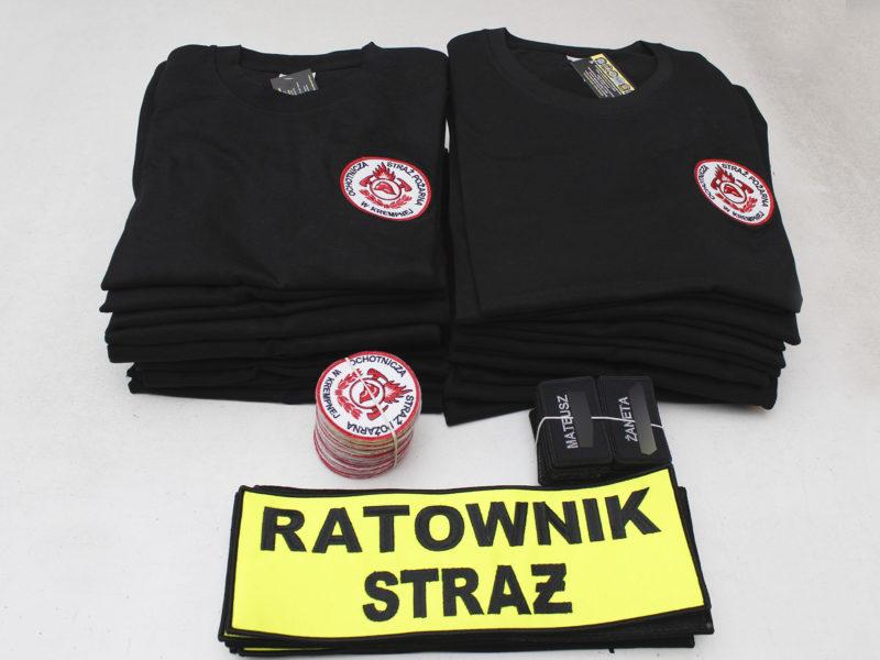 Naszywki i koszulki dla jednostki OSP KSRG Krempna