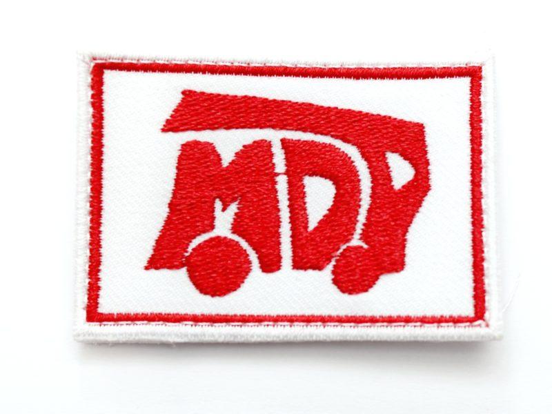 Nowy produkt - biała naszywka MDP