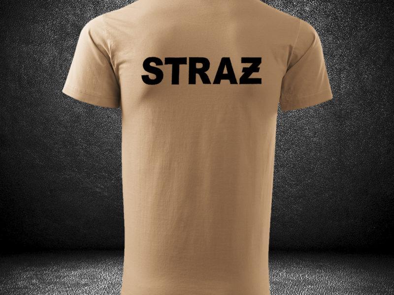 Piaskowe t-shirty dla Straży Pożarnej OSP