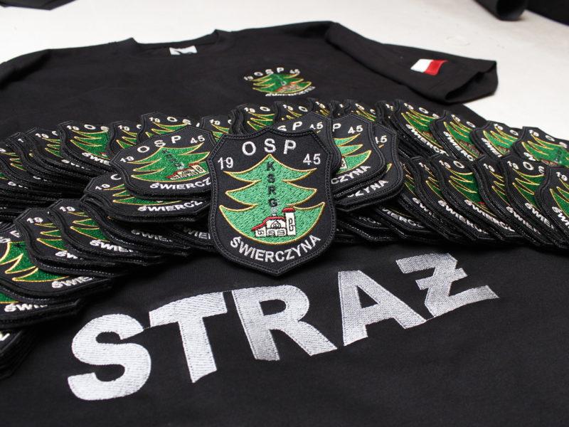 Koszulki i naszywki strażackie dla OSP Świerczyna