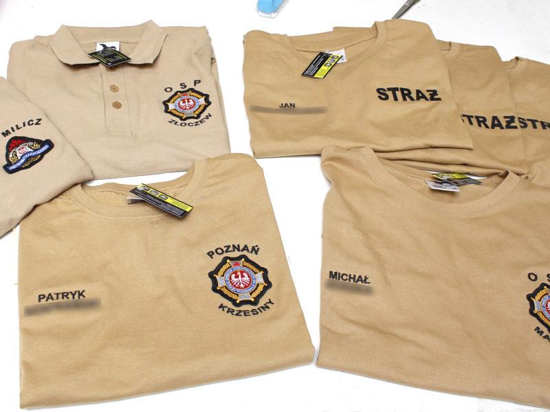 Pierwsze piaskowe koszulki strażackie wysłane