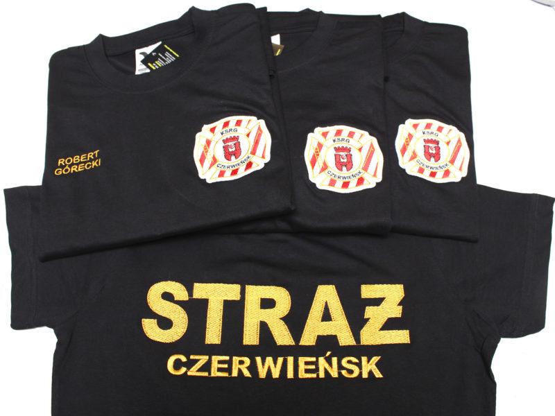 Haftowane koszulki strażackie dla OSP Czerwieńsk