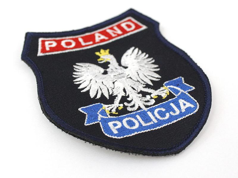 Naszywka POLICJA POLAND z Polskim Orłem