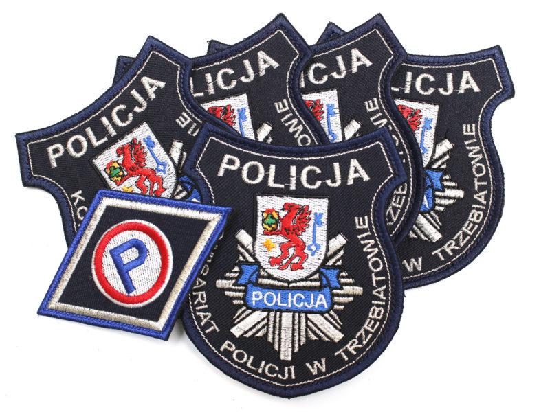 Naszywki POLICYJNE dla Komisariatu Policji w Trzebiatowie.