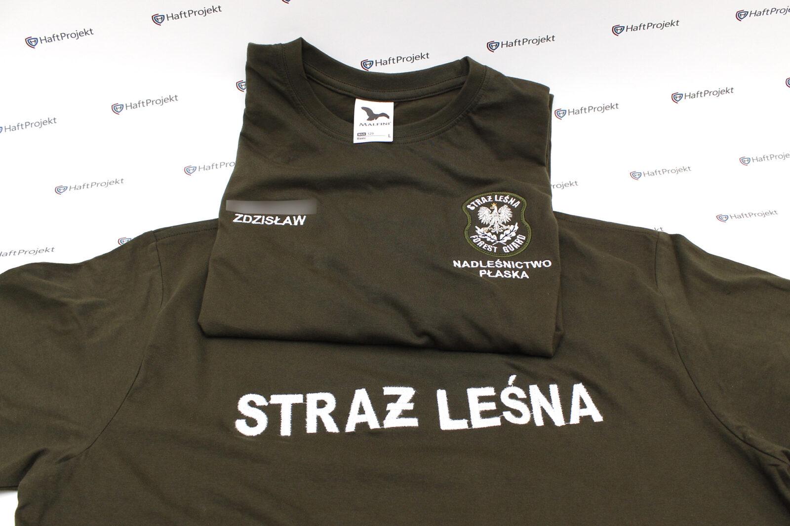 Odzież haftowana dla Straży Leśnej
