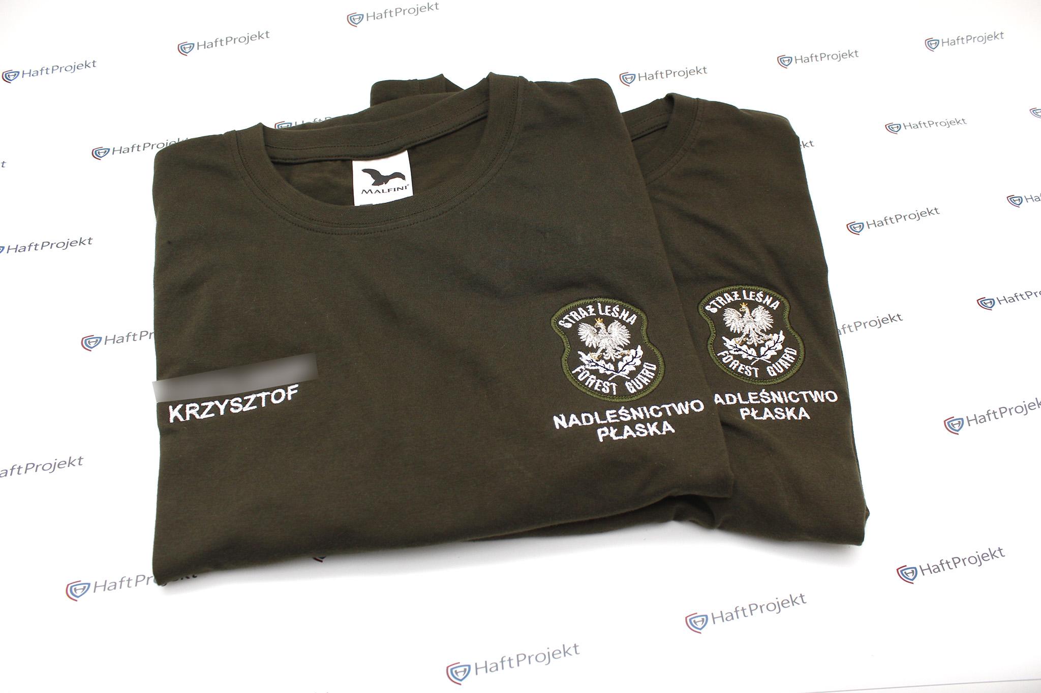 koszulka t-shirt dla straży leśnej
