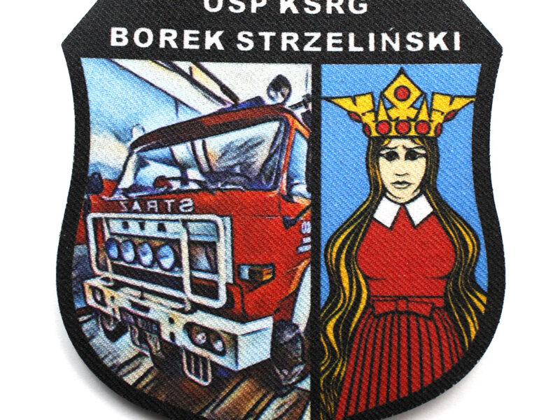 Drukowana naszywka dla OSP KSRG Borek Strzelecki