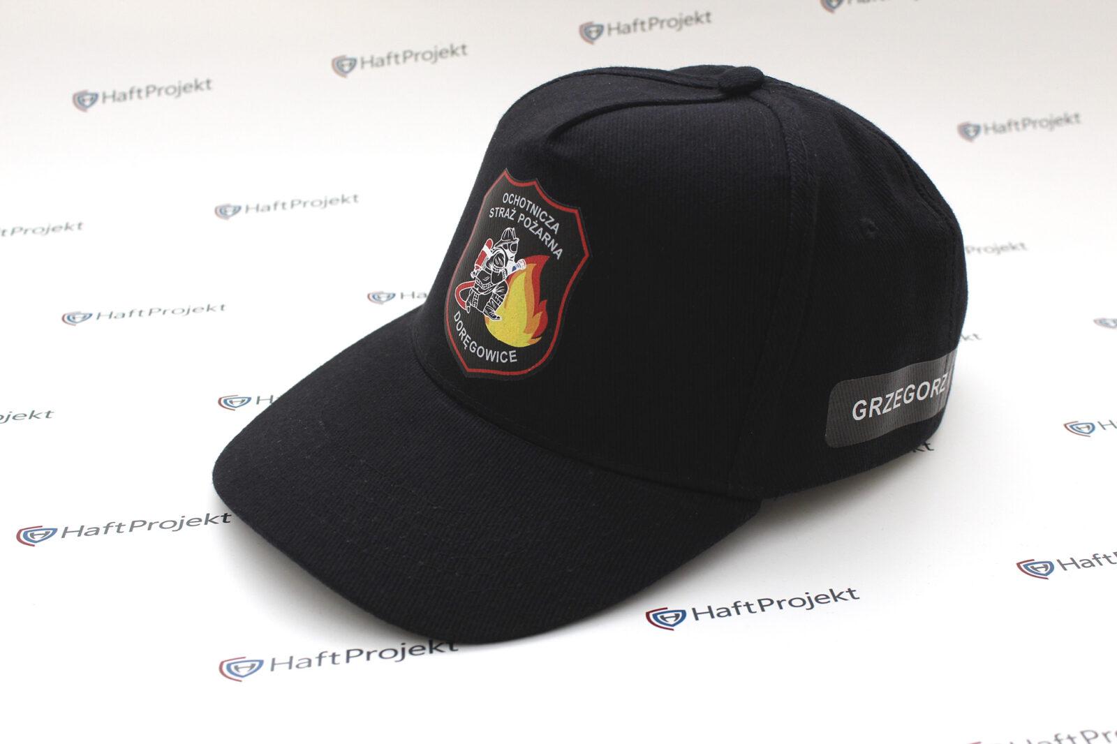 Strażackie czapki z daszkiem z indywidualnym logo OSP